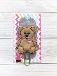 A personal favorite from my Etsy shop https://www.etsy.com/listing/506710284/teddy-bear-paper-clip-bear-paper-clip
