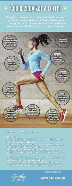Running para principiantes. Comienza a correr sin lesiones. #running #deporte #infografía