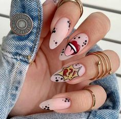 Edgy Nails, Funky Nails, Stylish Nails, Swag Nails, Grunge Nails, Summer Acrylic Nails, Best Acrylic Nails, Acrylic Nail Designs, Disney Acrylic Nails