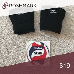 Mizuno Volleyball Knee Pads Black Volleyball Knee Pads that are in great condition!! Also I am including a nice Volleyball sticker as well! Mizuno Other