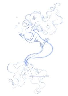 Ariel drawing in pencil