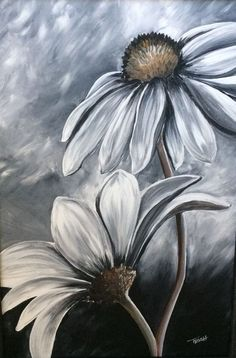 Black and White - Acrylic Painting by Trish Jones by DeeDeeBean