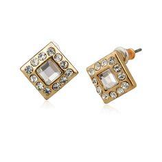 Sparkle Setting Square Gemstone Earrings