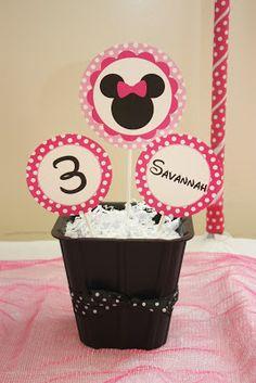 5M Creations: Minnie's Bowtique Inspired Birthday Party, Minnie Centerpiece