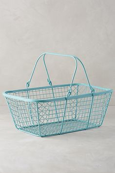 "Fitler Market Basket #anthropologie Collapsible handles Iron 11.75""H, 18""W, 7.25""D Imported Style No. 34478842 $78.00"