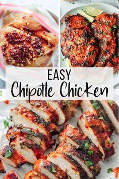 Spicy Chicken Marinades, Chipotle Chicken Marinade, Spicy Grilled Chicken, Chicken Marinade Recipes, Baked Chicken Recipes, Grilling Recipes, Cooking Recipes, Healthy Recipes, Lime Chicken