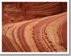 Striations and Boulder, Paria Wilderness, Utah
