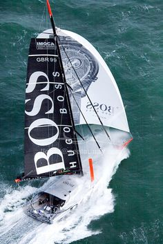 Aerial photo-shoot of the IMOCA Open 60 Alex Thomson Racing Hugo Boss   © Christophe Launay