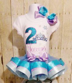 Frozen Insp birthday tutu set Frozen Princess by MommaMays on Etsy
