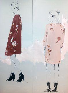 Emma Leonard: Client: Melbourne Fashion Institute, 2012 (large scale mural)