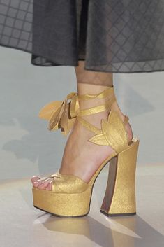 Look 044 shoes at Vivienne Westwood #SS14 Gold Label.