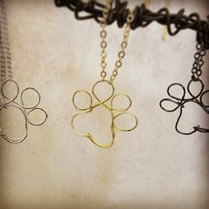 Paw Print necklace by wiredforfreedom on Etsy, $35.00
