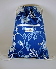 Handmade Grayson Cinch Sack in French Blue by AnnikainChautauqua, $30.00