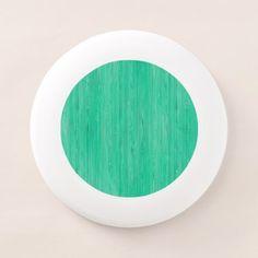#wood - #Sea Green Bamboo Wood Grain Look Wham-O Frisbee