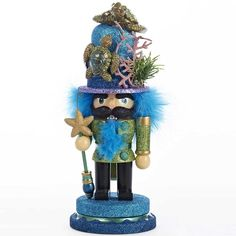 Amazon.com - Kurt Adler Hollywood Nutcracker with Sea Turtle Hat, 11-Inch -