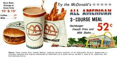 McDonald's ad, 1965 Look at the price for a meal!!!