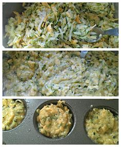 Savory breakfast muffins made out of Zucchini.... doesn't take a lot of ingredients, just grated zucchini, 1 egg, a bit of cheddar cheese and a small amt. of bread crumbs. I've even made these with eggplant and yellow squash when they are super cheap at the Farmer's Market.