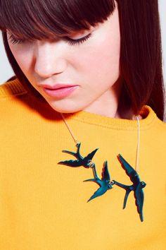 Swallow Triple Necklace - Tatty Devine