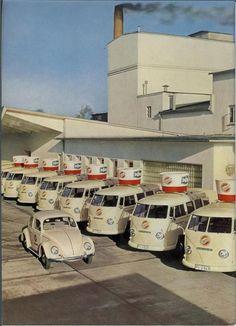 Fleet of VW Bus Food Trucks - very cool