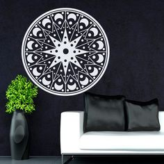 Flower Wall Decals Mandala Om Yoga Indian by WallDecalswithLove