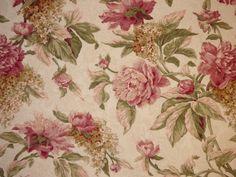 1 Yard Richloom BLUSH Pink Floral Jacquard Home Decor Drapery Sewing Fabric  #Richloom
