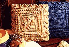 Free Crochet Popcorn Pillow Pattern