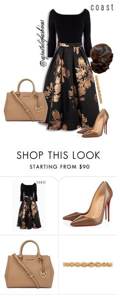 Outfit featuring Christian Louboutin, Michael Kors and Deepa Gurnani | How Do It Info
