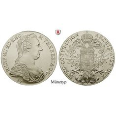 Römisch Deutsches Reich, Maria Theresia, Taler 1780, 23,38 g fein, st: Maria Theresia 1740-1780. Taler 40 mm 23,38 g fein, 1780.… #coins