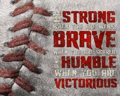 "Baseball ""Be Strong"" Motivational Poster Original Design #baseball #motivational #sports"