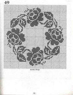 "Photo from album ""Rita Weiss 101 Filet Crochet Charts"" on Yandex. Crochet Curtains, Tapestry Crochet, Cross Stitch Rose, Cross Stitch Flowers, Filet Crochet Charts, Crochet Stitches, Cross Stitch Designs, Cross Stitch Patterns, Crochet Dollies"