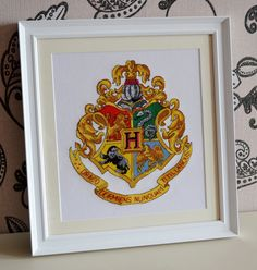 The Hogwarts Crest Cross Stitch Chart PDF available here :)