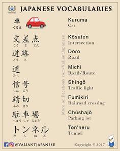 Japanese Vocabularies Study more on: www.instagram.com/valiantjapanese