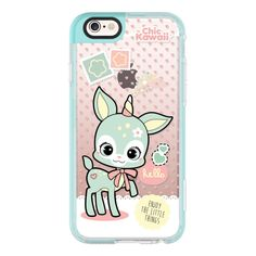 Magical Deer By Chic Kawaii - iPhone 7 Case, iPhone 7 Plus Case,... ($40) ❤ liked on Polyvore featuring accessories, tech accessories, iphone cases, apple iphone case, iphone cover case and iphone hard case