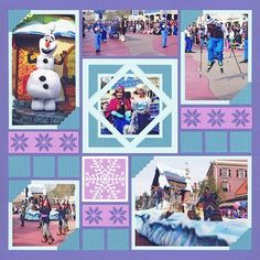Die - Scallop Dot Mats - decorative mats for MM Paper Tiles / Die - Snowflake Set 1 / Mitten Borders Die Set Disney Scrapbook Pages, Scrapbook Templates, Scrapbooking Layouts, Mosaic Madness, Creative Memories, Scrapbook Embellishments, Star Designs, Disney Frozen, Snowflakes