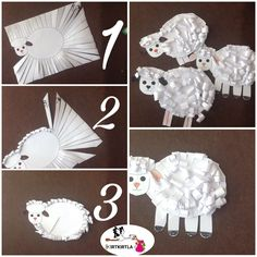 Preschool Christmas Crafts, Preschool Arts And Crafts, Easy Crafts For Kids, Toddler Crafts, Art For Kids, Eid Crafts, Easter Crafts, Sheep Crafts, Art Lessons Elementary