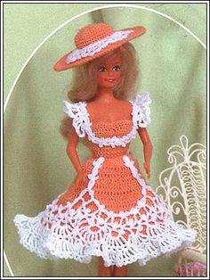Barbie Crochet: Peach, pattern