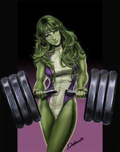 superheroes-or-whatever:  SHE HULK by *crisdelarastudio