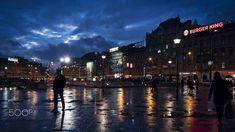City - Evening Street View, Budapest