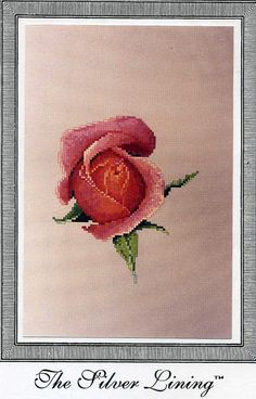 Silver Lining  -Memories - Pink Roses -   Counted  Cross Stitch Pattern