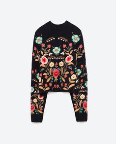 Image 8 of FLORAL EMBROIDERED SWEATER from Zara