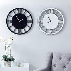 Glitter Mirrored 50cm Wall Clock Silver   Dunelm Silver Wall Clock, Mirror Wall Clock, Extra Large Mirrors, Glitter Mirror, Wall Clock Brands, Black Clocks, Black Mirror, Black Glitter, Living Spaces