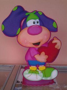 DOG Baby Shower Souvenirs, Diy And Crafts, Paper Crafts, Cute Cartoon Wallpapers, Princess Peach, Smurfs, Ideas Para, Scrap, Banner