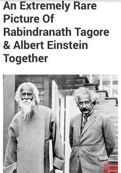 Rare Pic of Rabindranath Tagore with Albert Einstein. History Of India, History Photos, History Facts, World History, Nasa History, Rare Pictures, Historical Pictures, Rare Photos, Yoga Pictures