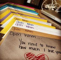 Cute idea when the boyfriend goes away again waaa