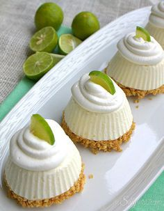 Frozen Key Lime Pie:  Put the lime in the coconut with these individual frozen key lime pies.