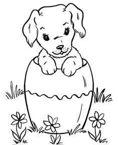 cute puppy dog coloring page