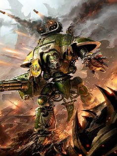 Image result for imperial knights 40k artwork