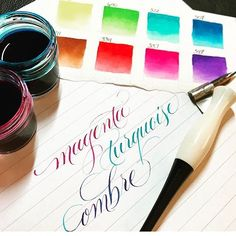 Head over to @kei.haniya's blog for a review of our new Ecoline Liquid Watercolor - find the review at haniyacalligraphy.com/blog  Thank you @kei.haniya for helping us with this!
