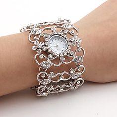 naisten timantti tyyli rannerengas rannekelloa (hopea)