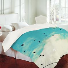 Shannon Clark Blue Skies Ahead Duvet Cover    One of the coolest sites I have ever seen!